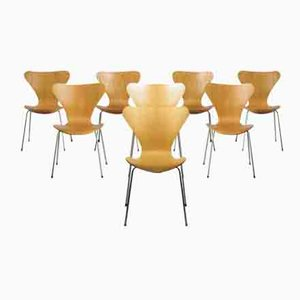 Series Seven Chairs by Arne Jacobsen for Fritz Hansen, Set of 8
