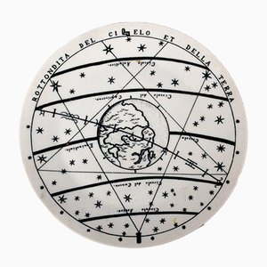 No. 7 Astronomici Plate by Piero Fornasetti, 1955