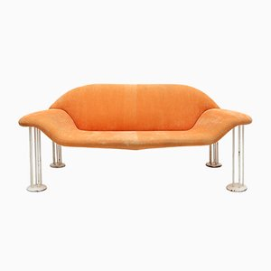 Lachsfarbenes Italienisches Sofa, 1960er