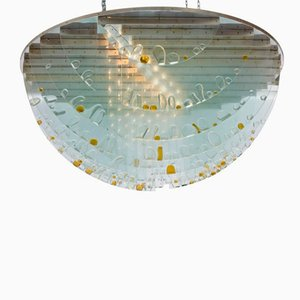 Large Czech Ceiling Light by Ernest Krejza & Milos Kramolis, 1960s