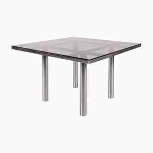 Smoked Glass Dining Table by Tobia Scarpa for Gavina Italy, 1960s