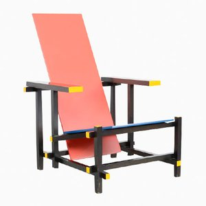 Red & Blue Chair by Gerrit Rietveld for Cassina, 1970s