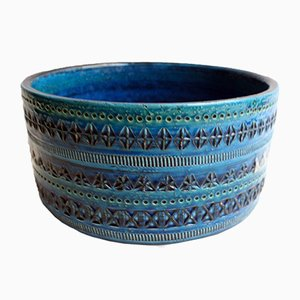 Rimini Blue Keramik Schüssel von Aldo Londi für Bitossi