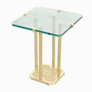 Vintage Brass Side Table by Peter Ghyczy