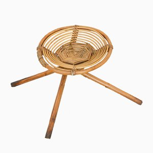 Low Bamboo Stool, 1970s