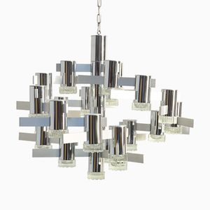 Vintage Sculptural Chandelier by Gaetano Sciolari for Lightolier