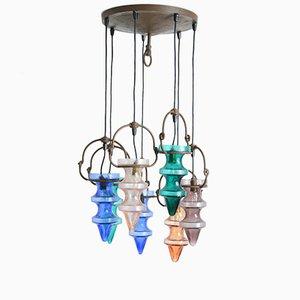 Lampadario in vetro colorato di Nanny Still McKinney per Raak