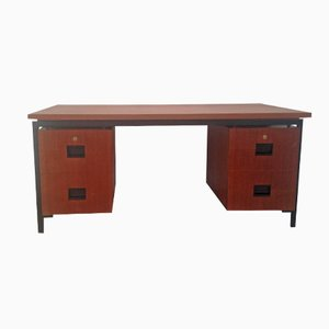 Dutch Teak and Metal Desk by Cees Braakman for Pastoe, 1960s
