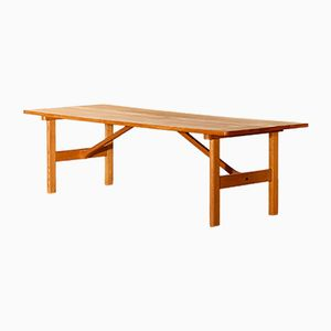 Large Swedish Oak Coffee Table by Børge Mogensen for Fredericia, 1950s