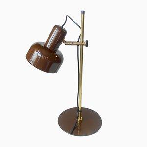 Lampada da tavolo Peanut in ottone id Jo Hammerborg per Fog & Mørup, Danimarca, anni '70
