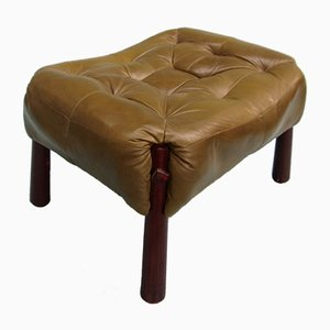 Rosewood & Leather Ottoman by Percival Lafer, 1970s