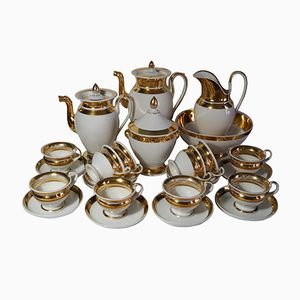 Old Paris Empire Period Gilt Coffee and Tea Service