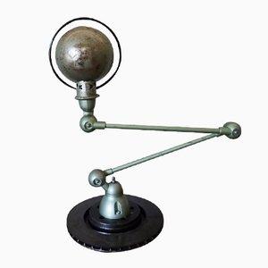 Green Industrial Articulated Desk Lamp from Jieldé, 1950s