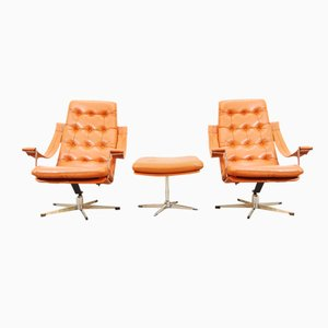 Lounge Chairs & Ottoman by Geoffrey Harcourt for Artifort, 1960s