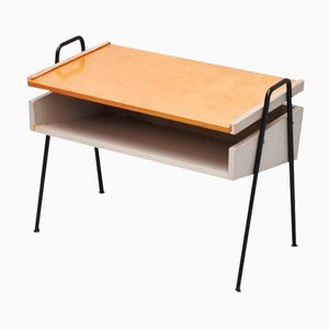 Mid-Century Dutch Record Player Table from Metalux