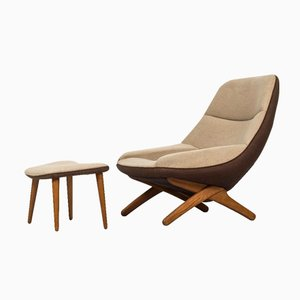 ML-91 Easy Chair & Ottoman by Illum Wikkelsø for Michael Laursen, 1950s