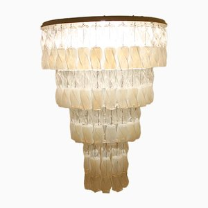Large Soffio Murano Glass Chandelier by Roberto Pamio & Renato Toso for Leucos, 1970