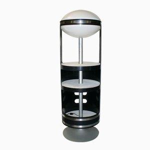 Drehbares Italienisches Regal mit Lampe, 1960er