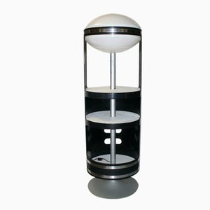 Italian Revolving Cabinet with Light, 1960s