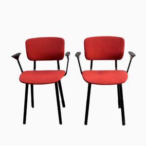 Niederländische Mid-Century Stühle von Friso Kramer für Ahrend de Cirkel, 2er Set