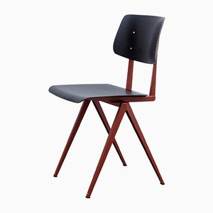 Dutch Model S16 Pearl Copper/Ebony Pagwood Chair from Galvanitas, 1970s