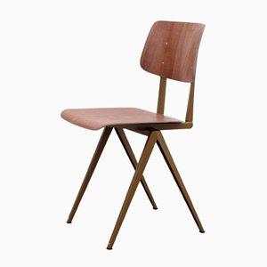Niederländischer Modell S16 Stuhl aus Goldperle/Brauner Rotbuche von Galvanitas, 1970er