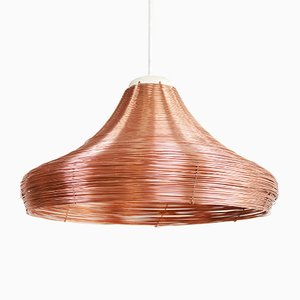 Wide Copper Braided Pendant Lamp by Studio Lorier