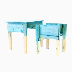 Chaise et Bureau par Lucas Maassen & Sons pour kinder MODERN, Pays-Bas, 2013