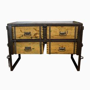 Industrial Pine & Steel Dresser