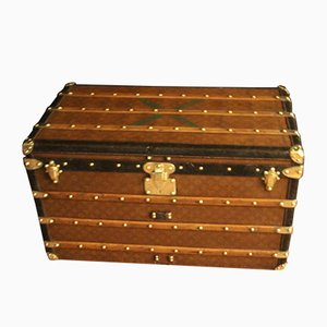 Monogram Canvas Courrier Steamer Trunk with Brass Fittings from Louis Vuitton, 1930s