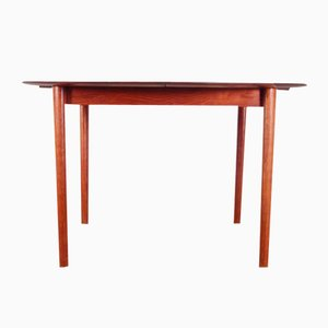 Danish Mid-Century Modern Model 311 Solid Teak Dining Table by Peter Hidt & Olrla Mølgaard Nielsen for Søborg Mobelfabrik, 1956