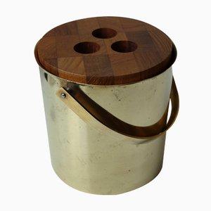 Mid-Century Scandinavian Brass Ice Bucket by Arne Jacobsen for Stelton