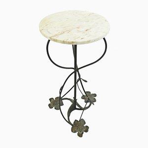 Vintage Wrought Iron Pedestal Table