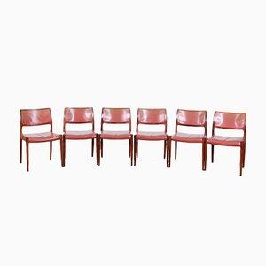 Dänische Mid-Century Palisander Esszimmerstühle von Niels Møller, 1968, 6er Set