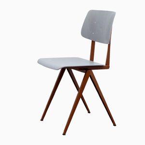 Lehmfarbener S16 Schichtholz Stuhl von Galvanitas, 1970er