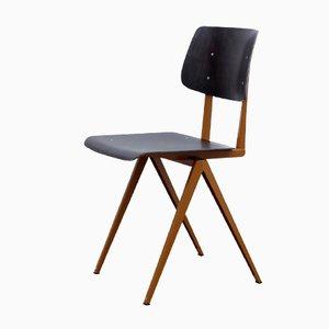 Brauner & Schwarzer Modell S16 Schichtholz Stuhl von Galvanitas, 1970er