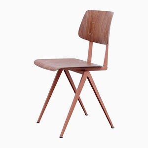 S16 Stuhl aus Pagholz in Braun und Dunkelrot von Galvanitas, 1970er