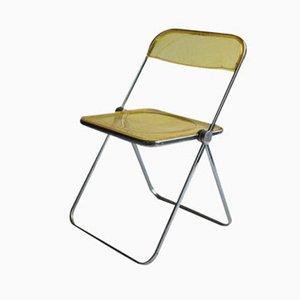 Yellow Plia Chair by Giancarlo Piretti for Castelli, 1963