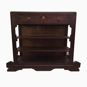 Dutch Colonial Ironwood Shelving Unit, 1920s