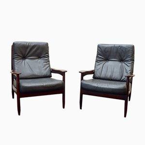 Scandinavian Rosewood Armchairs, 1960s, Set of 2