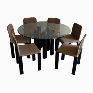 Table de Salle à Manger avec Six Chaises par Marco Zanuso pour Zanotta, 1979