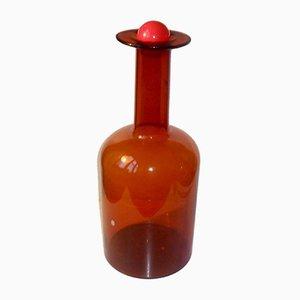 Grand Vase Vintage par Otto Brauer pour Holmegaard/Kastrup