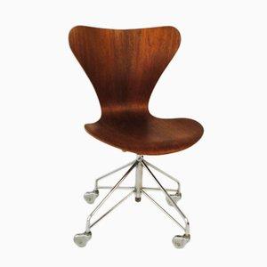 Sedia da ufficio Mid-Century di Arne Jacobsen per Fritz Hansen