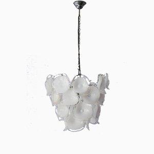 Italienischer Mundgeblasener Glas Kronleuchter von Mazzega, 1960er