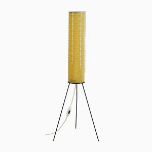 Plastic Tubular Yellow Floor Lamp, 1950s