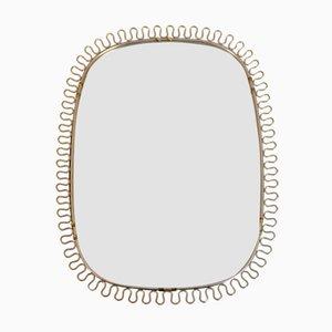 Brass Frame Mirror by Josef Frank for Svenskt Tenn, 1950s