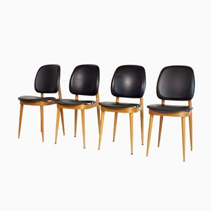 French Side Chairs by Pierre Guariche for L´Espace Le Corbusier, 1950s, Set of 4