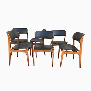 Model 49 Dining Chairs by Erik Buch, 1950s, Set of 6