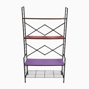Vintage Purple, Red, & Yellow Shelf