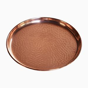 Hammered Copper Tray by Gunnar Ander for Ystad-Metall, 1950s